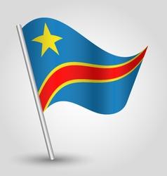 democratic republic of congo flag on pole vector image