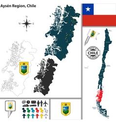 Map of Aysen vector image