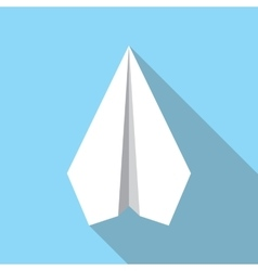 Paper Plane Flat Icon Paper Origami Airplane vector image vector image