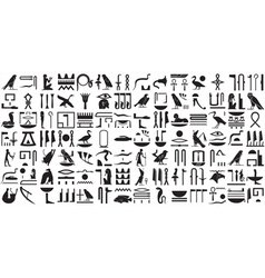 Silhouettes ancient Egyptian hieroglyphs Set 2 vector image