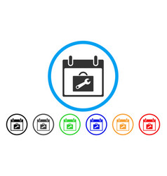 toolbox calendar day rounded icon vector image