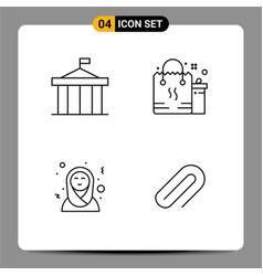 4 universal line signs symbols acropolis eid vector