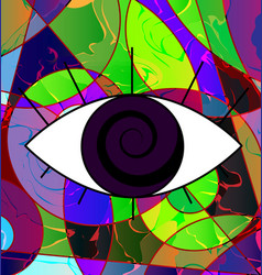 Abstract colored image of eye vector
