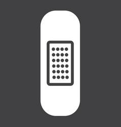 adhesive plaster glyph icon medicine vector image