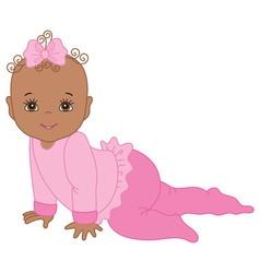 African American Baby Girl vector