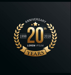 Anniversary emblems template vector