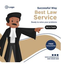 Banner design best law service vector