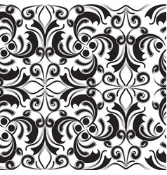 Baroque black and white beautiful vintage seamless vector