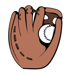 Baseball glove icon icon cartoon vector