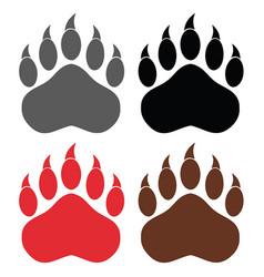 bear paw logo design collection - 1 vector image