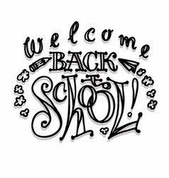 big set welcome back to school labels vector image