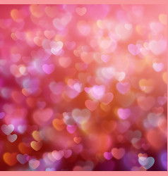 Bokeh background with hearts EPS 10 vector image