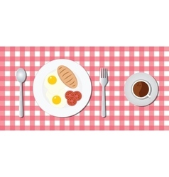 Breakfast menu with egg bread vector