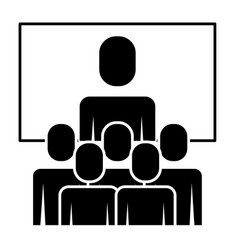 business meeting manager group board vector image