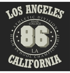 California T-shirt fashion vector image