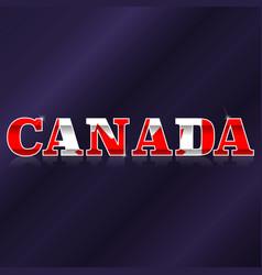 canada flag symbol vector image