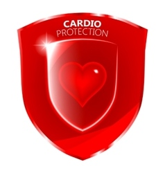 Cardio Health Protection Shield Symbol vector image