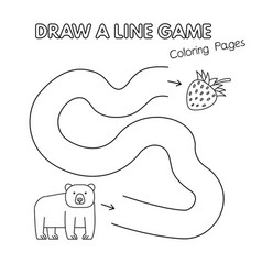 cartoon bear coloring book game for kids vector image