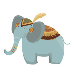 Cartoon elephant indian a vector