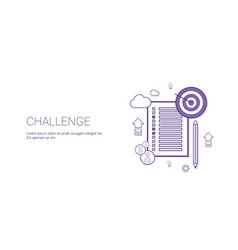 Challenge web banner with copy space business vector