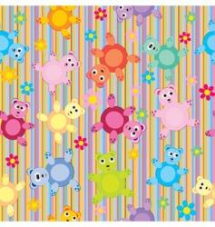children's animal pattern vector image