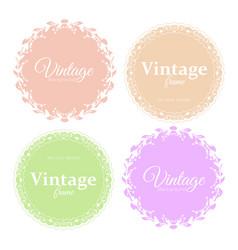 collection elegant round vector image