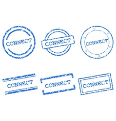Connect stamps vector
