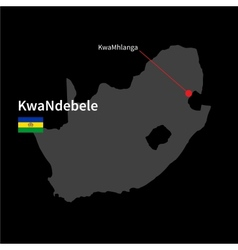 Detailed map of KwaNdebele and capital city vector image