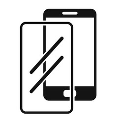 Device protect glass icon simple style vector
