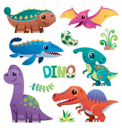 dinosaurs vector image
