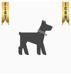 Dog flat icon vector