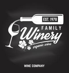 Family winery badge sign or label vector