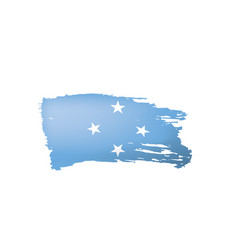 federated states micronesia flag vector image