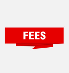 fees vector image