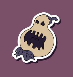 flat icon halloween emotion pumpkin vector image