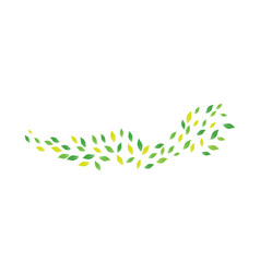 fling leaves in a windy day for logo design vector image