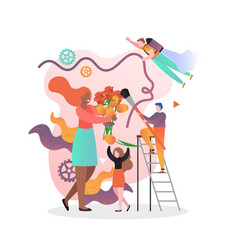 Florist business concept for web banner vector