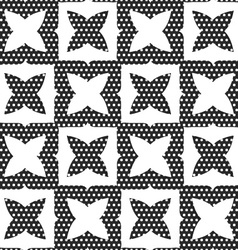 Geometrical ornament with white shapes and dotted vector