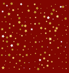 golden stars are falling down vector image