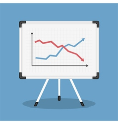 Graph on Whiteboard vector image
