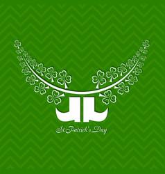 greeting for saint patricks day celebration vector image