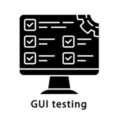 gui testing glyph icon vector image