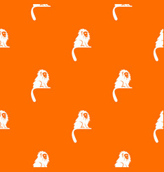 Hairy monkey pattern seamless vector