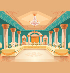 Hall for banquet interior of ballroom vector