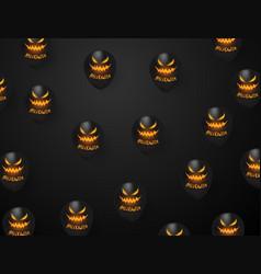 Halloween carnival background black balloons vector