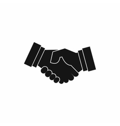 Handshake icon in simple style vector