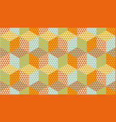 hexagons and triangles geometric seamless pattern vector image