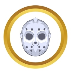 Hockey goalie mask icon cartoon style vector image