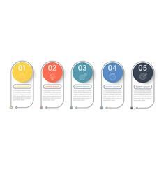 infographic elements timeline progressive vector image