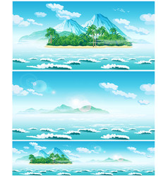 landscape of the open sea and tropical islands vector image